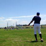外野フライ練習♫